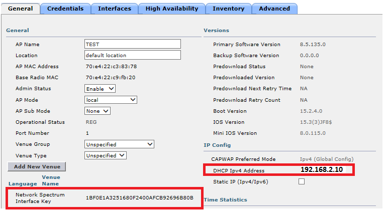 How to configure Cisco AP as a Spectrum Analyzer – lightweight mode